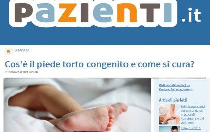 Cos'è il piede torto congenito e come si cura? Articolo a cura di pazienti.it
