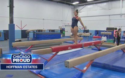 15 enne dell'Illinois, nata con piede torto, diventerà una ginnasta professionista?
